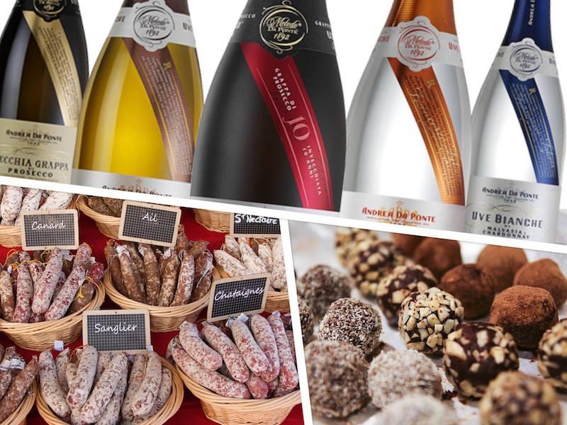 Petit marché des Saveurs du Sud de Jauche - Italie - Grèce - France :: saucissons d'Auvergne, truffes au chocolat, macarons & plus
