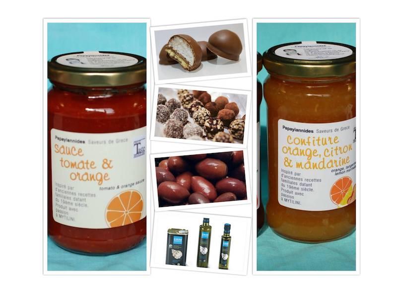 Petit marché des Saveurs du Sud de Jauche - Italie - Grèce - France :: huile d'olive, tapenade, sauce tomate de lesbos
