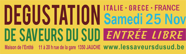 Les Saveurs du Sud à Jauche, le 25 novembre 2017 - vins et produits de terroir - Italie, Grèce, France